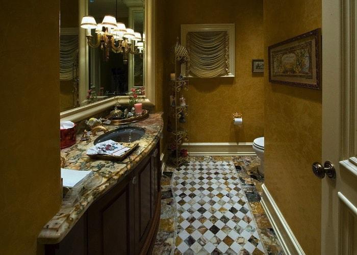 venetian plaster residential bathroom-min